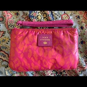 Juicy Couture Hot Pink Cheetah Wristlet